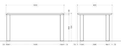 NeoDesign Masen-SP4本脚テーブル